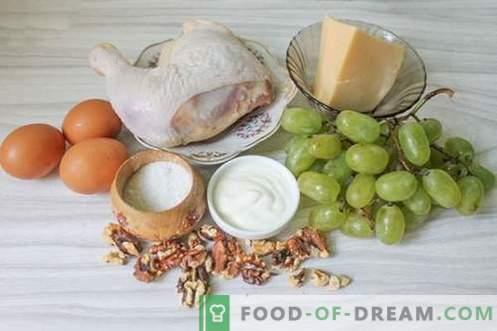 Salade Tiffany aux raisins blancs - savoureuse, glamour, mais pas chère!