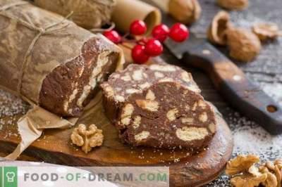 Saucisse au chocolat - dessert sans cuisson
