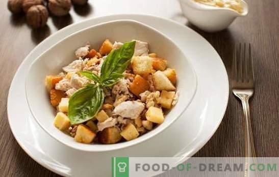 Salade avec jambon et craquelins - cuisinez en mode