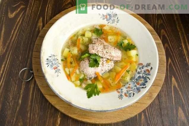 Soupe de saumon au poisson