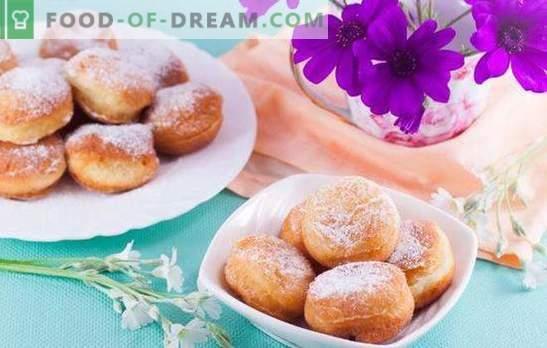 Pour des beignets luxuriants en chocolat ou en glaçage, bravo! Délicatesse extrêmement simple - beignets luxuriants de tout type de pâte