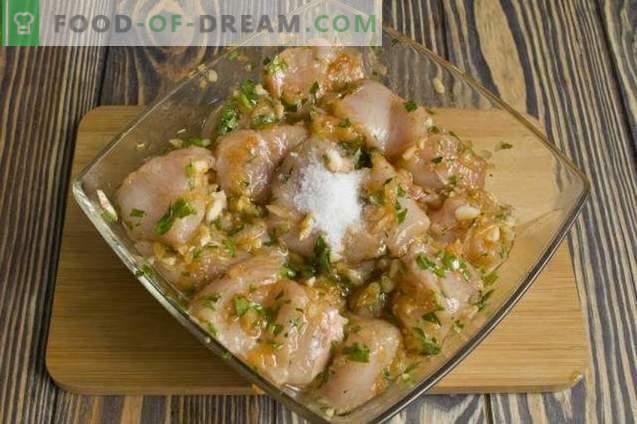 Brochettes de poulet au four
