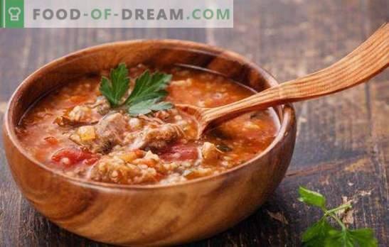 La soupe géorgienne est une entrée délicieusement épicée et épicée. Les meilleures recettes de soupes géorgiennes: kharcho, shechamandy, hashi, bozartmu
