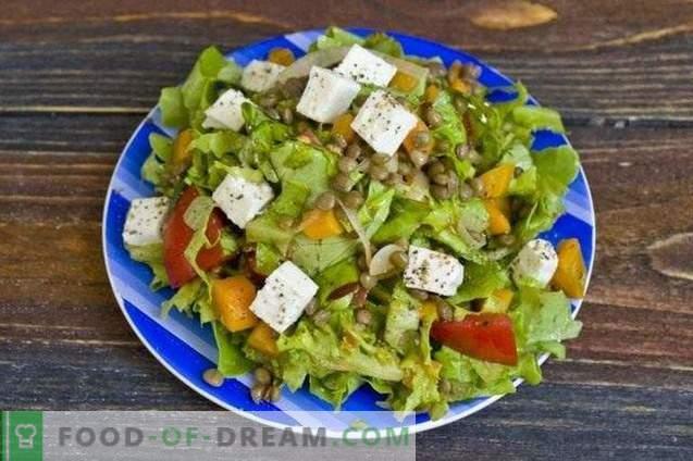 Salade de lentilles et fromage