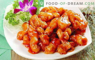 Fragrant and juicy meat in a sweet sauce in Chinese. Original recipes for different types of meat in a sweet sauce in Chinese