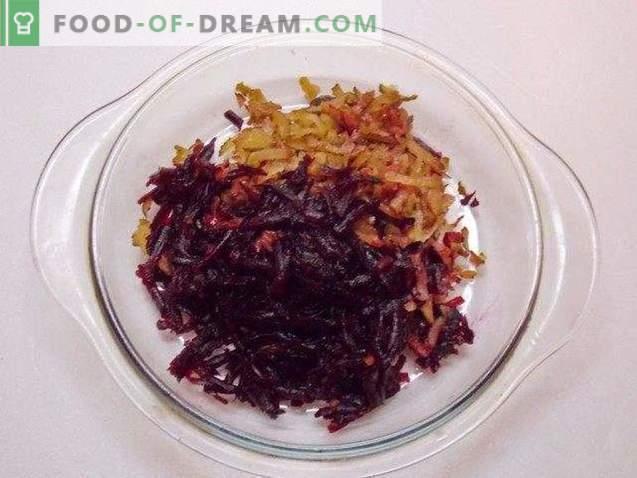 Salade de betteraves à l'ail et aux noix de Bordeaux
