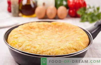 Omelett in bewährten Rezepten. Wie man richtig und lecker ein Omelett in einer Pfanne kocht.
