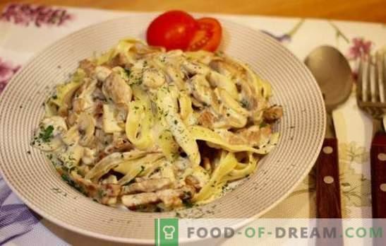 Pâtes au porc - un morceau d'Italie dans votre cuisine. Les meilleures recettes pour des pâtes au porc bien cuites