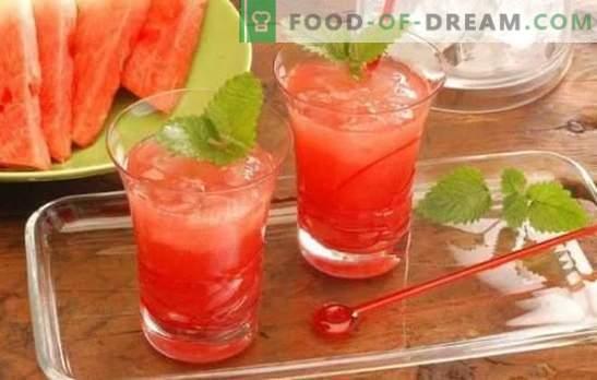 Cocktails à la pastèque - boissons rafraîchissantes pour les fêtes et la détente. Recettes pour cocktails sans alcool et alcools à la pastèque
