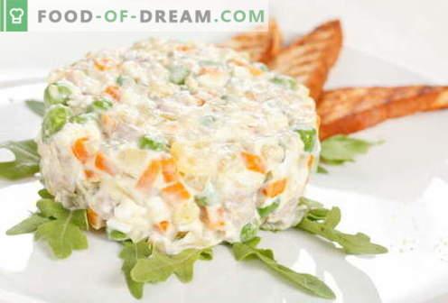 Olivier au poulet - les meilleures recettes. Comment faire cuire correctement et délicieusement une salade de poulet.