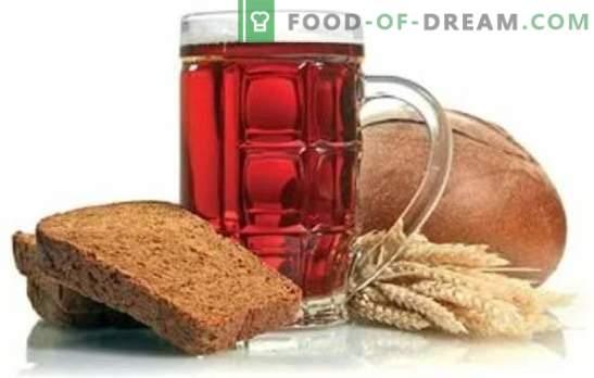 Sourdoughs pour kvas sans levure sur malt, chapelure, avoine. Informations utiles sur la fabrication de kvas sans levure