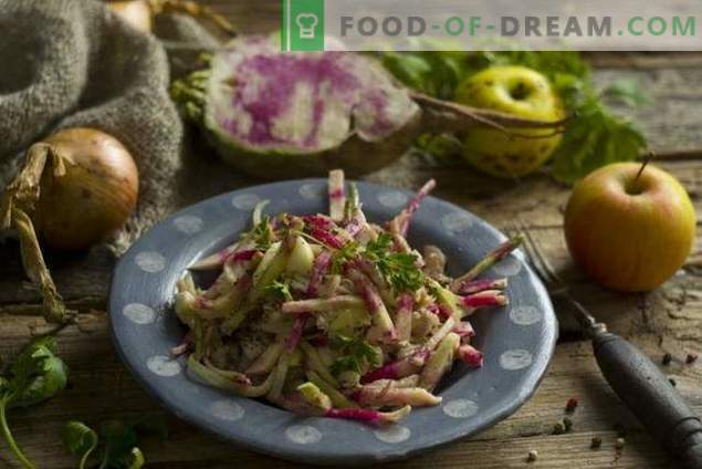 Délicieuse salade de radis au poulet