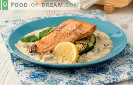 Pink salmon in sauce: recipes for a holiday and for every day. How to make pink salmon in a sauce: cheese, tomato, plum, bechamel