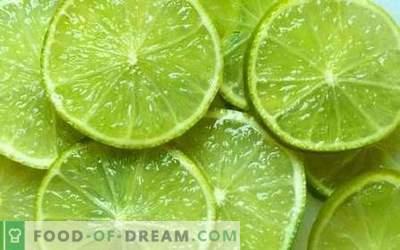 Chaux - propriétés utiles, à utiliser en cuisine. Recettes au citron vert.