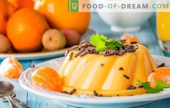 Desserts rapides et savoureux à la mandarine