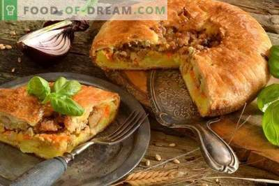Engelse taart met aardappelen en vlees