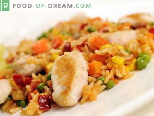 Pilaf de poulet dans une mijoteuse - les meilleures recettes. Comment cuire correctement et savourer le pilaf de poulet dans une mijoteuse.