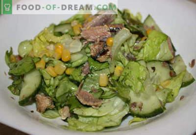 Salade aux recettes au beurre éprouvées. Comment bien et savoureux préparer une salade au beurre.