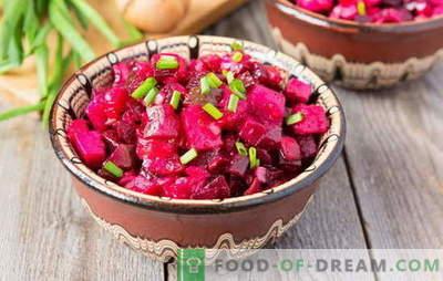 Vinaigrette aux pommes de terre: salade russe ou vinaigrette à l'européenne? Idées pour les vinaigrettes de salade aux pommes de terre au quotidien et aux fêtes