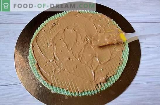 Gâteau aux gaufres: une recette photo pas à pas. Faire un gâteau gaufres à partir de gâteaux tout préparés avec du lait concentré - simple et très savoureux!