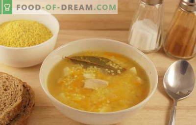 Soupe de champ au millet: les secrets de la cuisine cosaque. Recettes de soupe au mil avec le