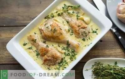 Pilons de poulet en sauce - viande succulente à n'importe quel plat d'accompagnement. Comment faire cuire des pilons de poulet dans une sauce au four, dans une mijoteuse et dans une casserole