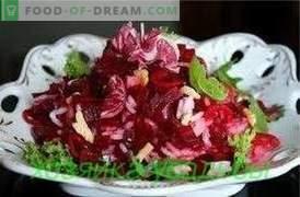 Salades de betteraves, recettes simples.