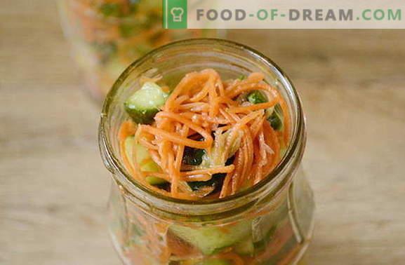 concombres à la coréenne à la carotte pour l'hiver