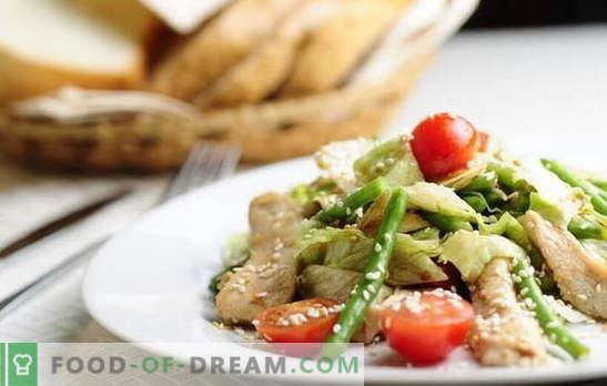 Filet de poulet aux haricots - une combinaison satisfaisante. Les meilleures recettes pour apéritifs, deuxième et premier cours de filet de poulet aux haricots verts