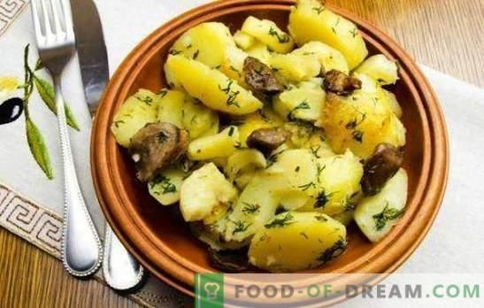 Les pommes de terre avec des champignons dans une mijoteuse sont meilleures que dans une poêle à frire. Pommes de terre aux champignons dans une mijoteuse: frites, cuites au four, cuites au four