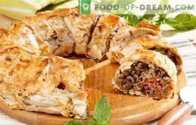 Tartes à la viande de pita à la viande hachée - facile! Recettes de tartes de pita à la viande hachée et au fromage, pommes de terre, champignons, tomates, courgettes