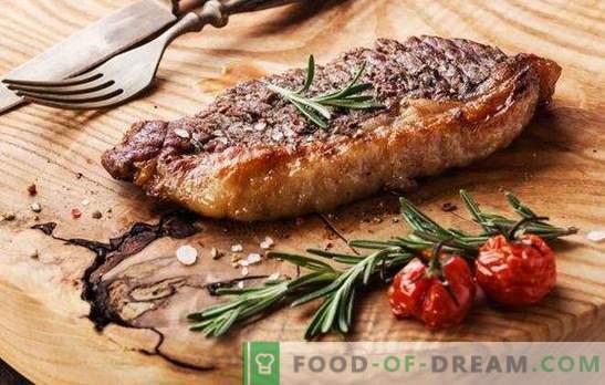 Steak de boeuf au four - pour les vrais amateurs de viande. Comment faire cuire un steak de bœuf délicieux et juteux au four