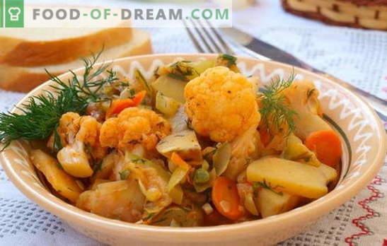 Le ragoût le plus populaire est un légume, avec du chou et des pommes de terre. Recettes pour le jeûne lax - ragoût de légumes avec du chou et des pommes de terre