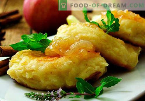 Cheesecakes from cheese cheese - classique, avec semoule, riche, au four - les meilleures recettes. Comment les faire cuire