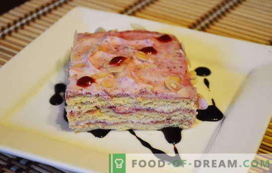 Gâteau pressé - règles fantastiques! Les meilleures recettes de gâteaux pressés: fromages cottage, biscuits, pain d'épices, gâteaux tout préparés et fruits