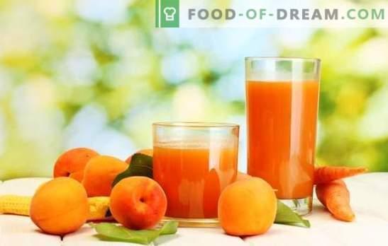 Jus d'abricot pour l'hiver - boisson ensoleillée! Différents modes de récolte du jus d'abricot pour l'hiver à la maison
