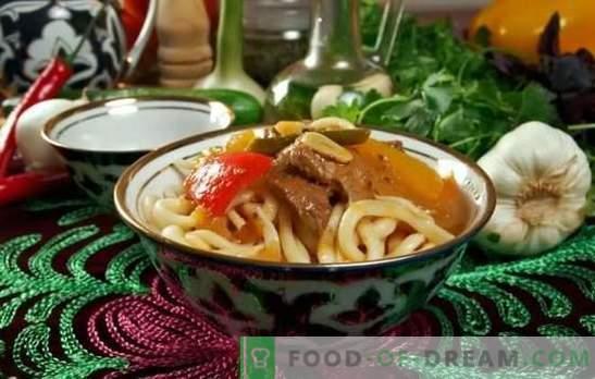 Uzbek Laghman est un plat étonnant qui satisfera par son goût, son arôme et son apparence. Les meilleures recettes pour Lagman en ouzbek