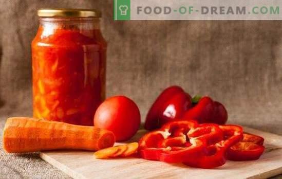 Il va réchauffer le froid et ajouter une étincelle: adjika de tomates et de poivrons pour l'hiver. Recettes traditionnelles et insolites adjika de tomates et poivrons pour l'hiver