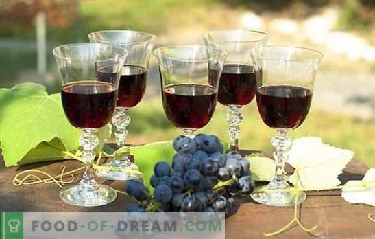 Vin de raisin noir: préparation des matières premières et technologie de préparation. Recettes vin fait maison à partir de raisins noirs