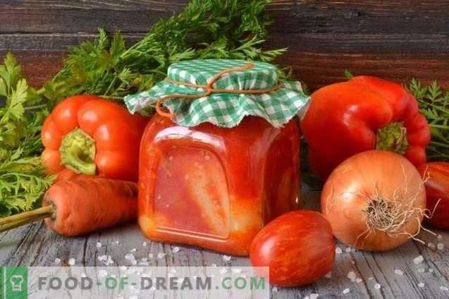 Poivrons farcis à la sauce tomate pour l'hiver