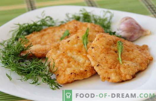 Les côtelettes de poulet sont les meilleures recettes. Comment cuire correctement et savoureux côtelettes de poulet.