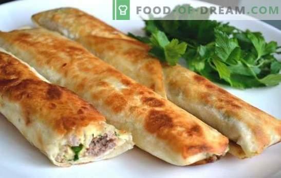 Tartes Lavash à la viande hachée - une collation délicieuse en quelques minutes. Comment cuire rapidement et savourer des tartes au lavash avec de la viande hachée