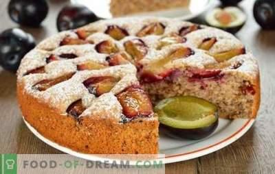 Tarte aux prunes - on ne sera pas assez! Une sélection de différents gâteaux aux prunes de levure, sablés, pâte feuilletée et pâte liquide