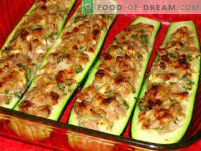 Courgettes farcies à la viande cuite au four, recettes de cuisine