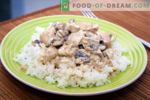 Poulet dans une sauce crémeuse - les meilleures recettes. Comment cuire correctement et savoureux le poulet dans une sauce crémeuse.