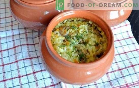 Le pilaf en pot au four est déjà une tradition. Recettes pilaf dans des casseroles au four avec du porc, du poulet, du bœuf, des champignons, du poisson