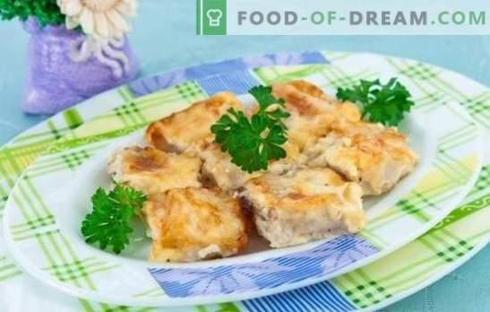 Le poisson dans une omelette est une combinaison merveilleuse! Recettes pour différents poissons dans une omelette au four, dans la casserole et dans le multicuiseur