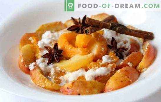 potiron cuit au four avec des pommes - comme ça! Recettes de citrouille au four avec des pommes et des oranges, des fruits secs, du riz et de la meringue