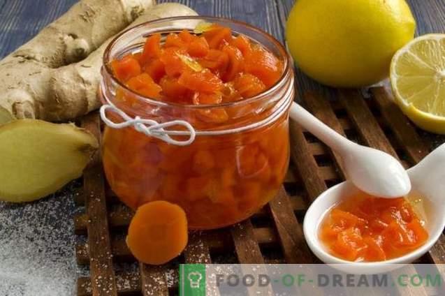Karottenmarmelade mit Ingwer und Zitrone