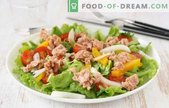 La salade au thon (recette pas à pas) est un hors-d'oeuvre de poisson original. Salade de thon pas à pas: plusieurs possibilités de cuisson